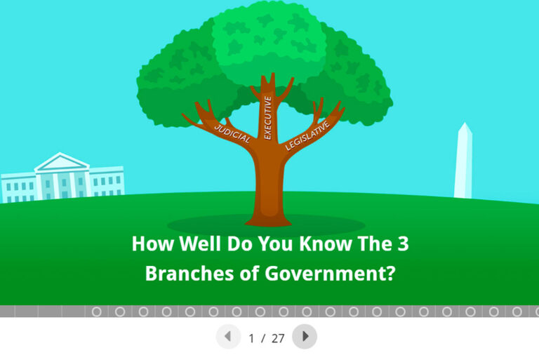 Quiz on the three branches of government